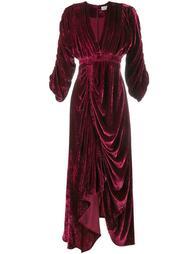 бархатное драпированное платье 'Rebecca' Preen By Thornton Bregazzi