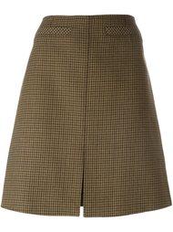юбка А-образного силуэта в ломаную клетку Courrèges
