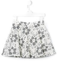 кружевная юбка с цветочным узором Miss Blumarine