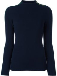 shoulder detailing ribbed pullover Tory Burch