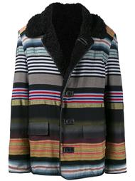 striped boxy coat  James Long