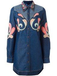 декорированная рубашка с заклепками Manish Arora
