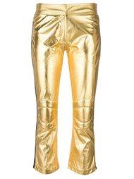брюки с лампасами и эффектом металлик Rossignol