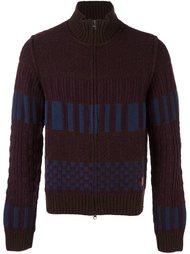 colour block knitted zip cardigan Al Duca D'Aosta 1902