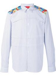 floral print shoulder striped shirt Comme Des Garçons Homme Plus