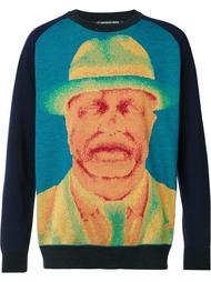 свитер с портретом-принтом Issey Miyake Men
