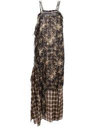 длинное многослойное платье R13