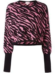 свитер с зебровым принтом Giamba
