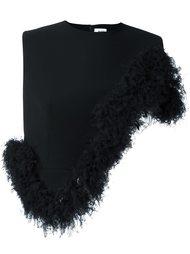 укороченный топ с асимметричными рюшами Comme Des Garçons Noir Kei Ninomiya