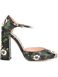 туфли с цветочным принтом   Rochas