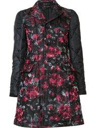 стеганое пальто с цветочным узором Comme Des Garçons