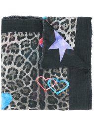 шарф с леопардовым принтом Ottotredici