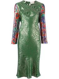 платье с эффектом металлик  Maison Rabih Kayrouz
