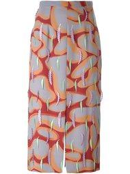 юбка с аппликацией перьев  Marco De Vincenzo