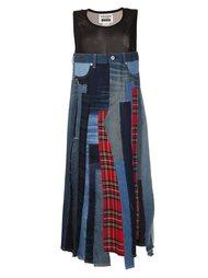 лоскутное джинсовое платье Junya Watanabe Comme Des Garçons