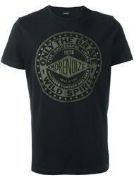 футболка с графическим принтом спереди Diesel