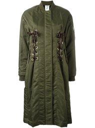 удлиненное пальто-бомбер  Steve J & Yoni P