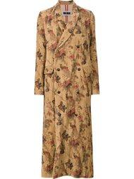 длинное пальто с павлинами Uma Wang