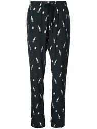 брюки с принтом помады  Markus Lupfer