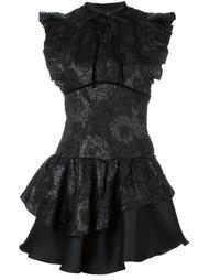 жаккардовое платье с цветочным узором Christian Pellizzari