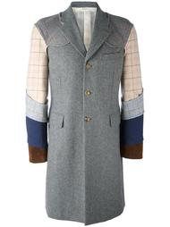пальто в стиле пэчворк Comme Des Garçons Homme Plus