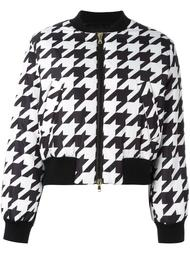 куртка-бомбер с узором в ломаную клетку Boutique Moschino