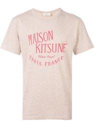 футболка с логотипом Maison Kitsuné