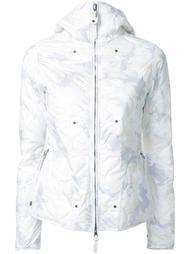 камуфляжная дутая куртка с капюшоном Kru