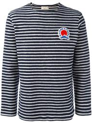 striped logo plaque sweater Maison Kitsuné