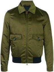 атласная куртка-бомбер Salvatore Ferragamo