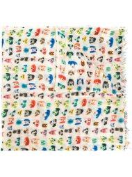 шарф с принтом собак Bellerose