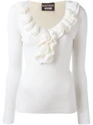 блузка с рюшами вокруг выреза Boutique Moschino
