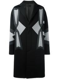 пальто с панельным дизайном Les Hommes