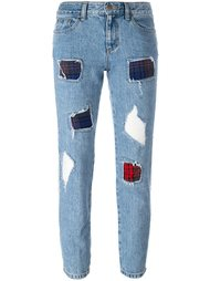 укороченные рваные джинсы Steve J & Yoni P