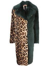 пальто с леопардовым принтом   Nº21