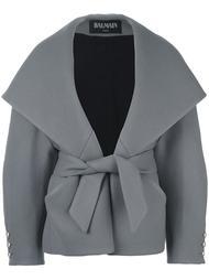 пальто с воротником-шалька Balmain