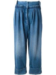 плиссированные джинсы прямого кроя J.W.Anderson