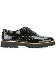 туфли на шнуровке с заклепками Hogan