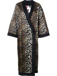 пальто с леопардовым узором Emanuel Ungaro