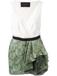 платье с оборками на юбке Christian Pellizzari