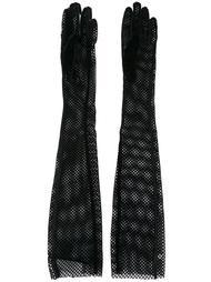 удлиненные сетчатые перчатки Mm6 Maison Margiela