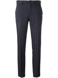 классические брюки с мелким узором Pt01