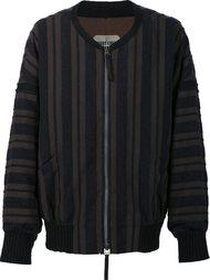 куртка-бомбер в полоску Ziggy Chen