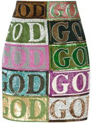 юбка мини с украшениями Olympia Le-Tan