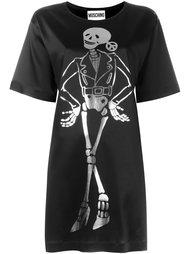 платье-футболка с принтом скелета Moschino