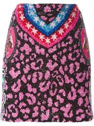 юбка с животным принтом Manish Arora