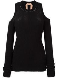 свитер с открытыми плечами  Nº21