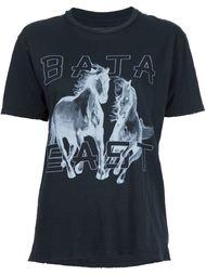футболка с принтом лошадей Baja East