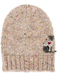 шапка-бини со стразами 'Kitty' Nº21