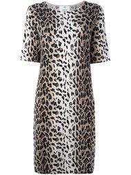 leopard print shift dress Allude